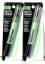 2 Count Maybelline 0.05 Oz Master Camo 10 Green For Redness Color Correcting Pen - $17.99