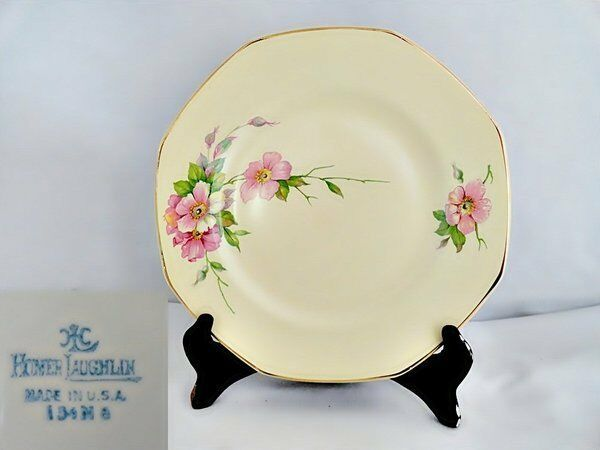 Homer Laughlin Wild Rose Yellowstone Salad Plate