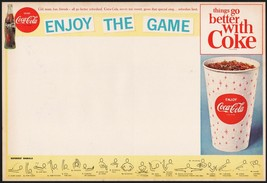 Vintage sports program COCA COLA Enjoy the Game bottle and cup new old s... - $8.99