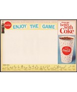 Vintage sports program COCA COLA Enjoy the Game bottle and cup new old s... - $8.09