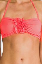 NWT EBERJEY solid M Swimsuit bandeau top neon strapless Dahlia bikini separates - $46.56
