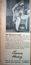Cannon Hosiery The Side Garter Stretch Magazine Advertising Print Ad Art... - $3.99