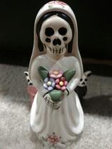 Day of the Dead Ceramic Bride Figurine - $5.00