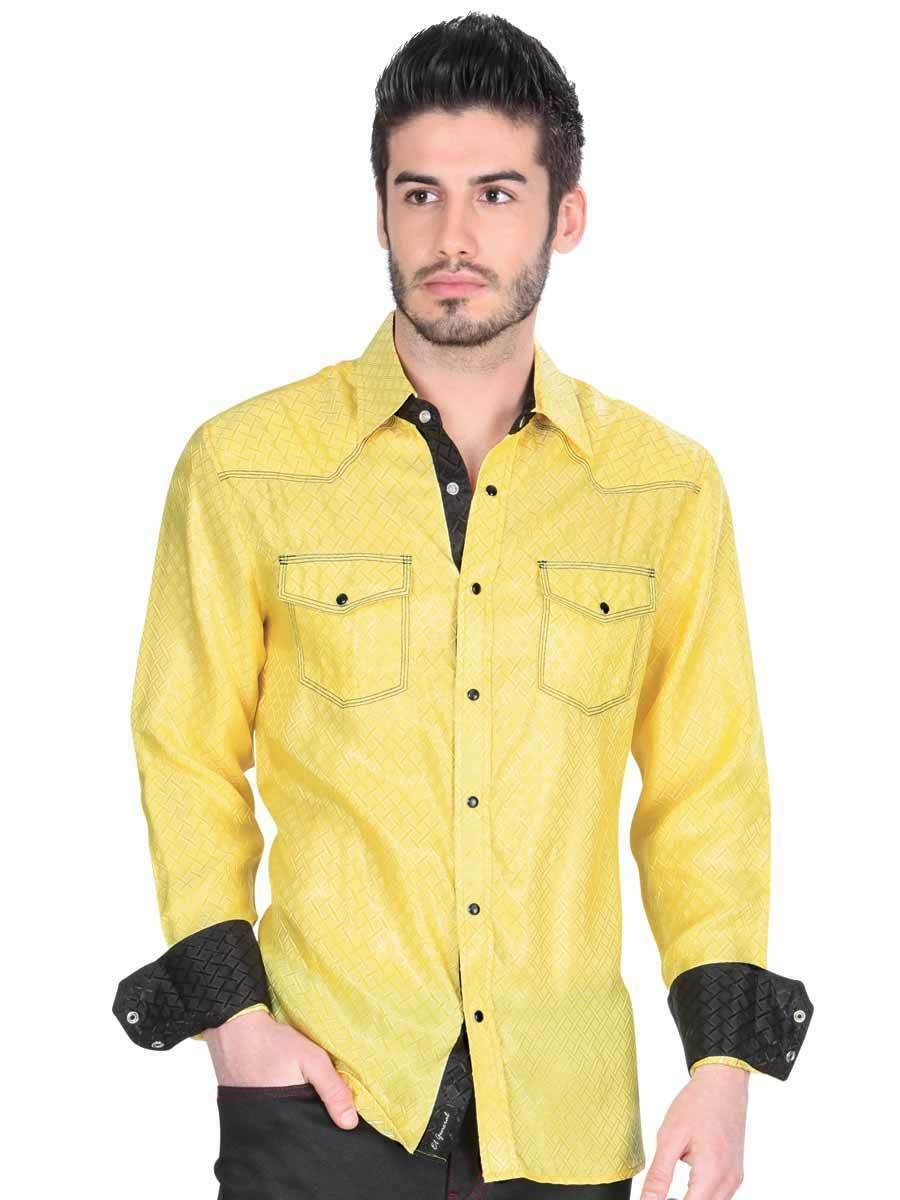Primary image for Camisa Vaquera (Western Shirt CW) L/Sleeve ID 34126 El General Yellow