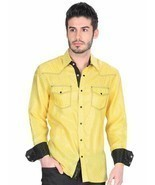Camisa Vaquera (Western Shirt CW) L/Sleeve ID 34126 El General Yellow - $32.00