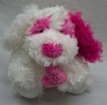 "TY Classic CRUSH THE FUZZY PINK & WHITE PUPPY DOG 9"" Plush STUFFED ANIMA... - $18.32"
