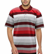 Men's Striped Lightweight Cotton Blend Mesh Classic Polo Shirt 5XL w/ Defect image 1