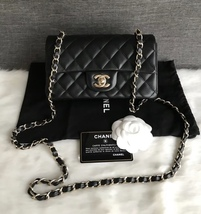 AUTHENTIC CHANEL BLACK QUILTED LAMBSKIN LARGE MINI RECTANGULAR FLAP BAG GHW - $80.860,37 MXN