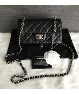AUTHENTIC CHANEL BLACK QUILTED LAMBSKIN LARGE MINI RECTANGULAR FLAP BAG GHW - $3,999.99