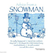 Snowman Sweatshirt S Advice From Nature NWT - $25.25