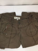 American Rag Women Brown Pants Size 5 Straight Searchable Comfy Cargo Jeans - $16.82