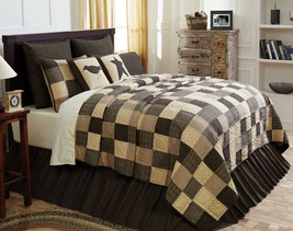10-pc King KETTLE GROVE Quilt Farmhouse Set - Black/Creme/Tan - VHC Brands