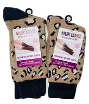 MUK LUKS Women's Leopard Soft Socks Sz 6-11 Boot Sock Set of 2 Cozy Comfort - $11.88