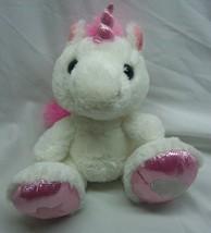 """Aurora White & Pink Soft Big Foot Unicorn 10"""" Plush Stuffed Animal Toy - $19.80"""