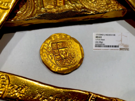 Mexico 1715 Fleet Shipwreck 8 Escudos Ngc 63 Pirate Gold Treasure Cob Coins - $48,000.00