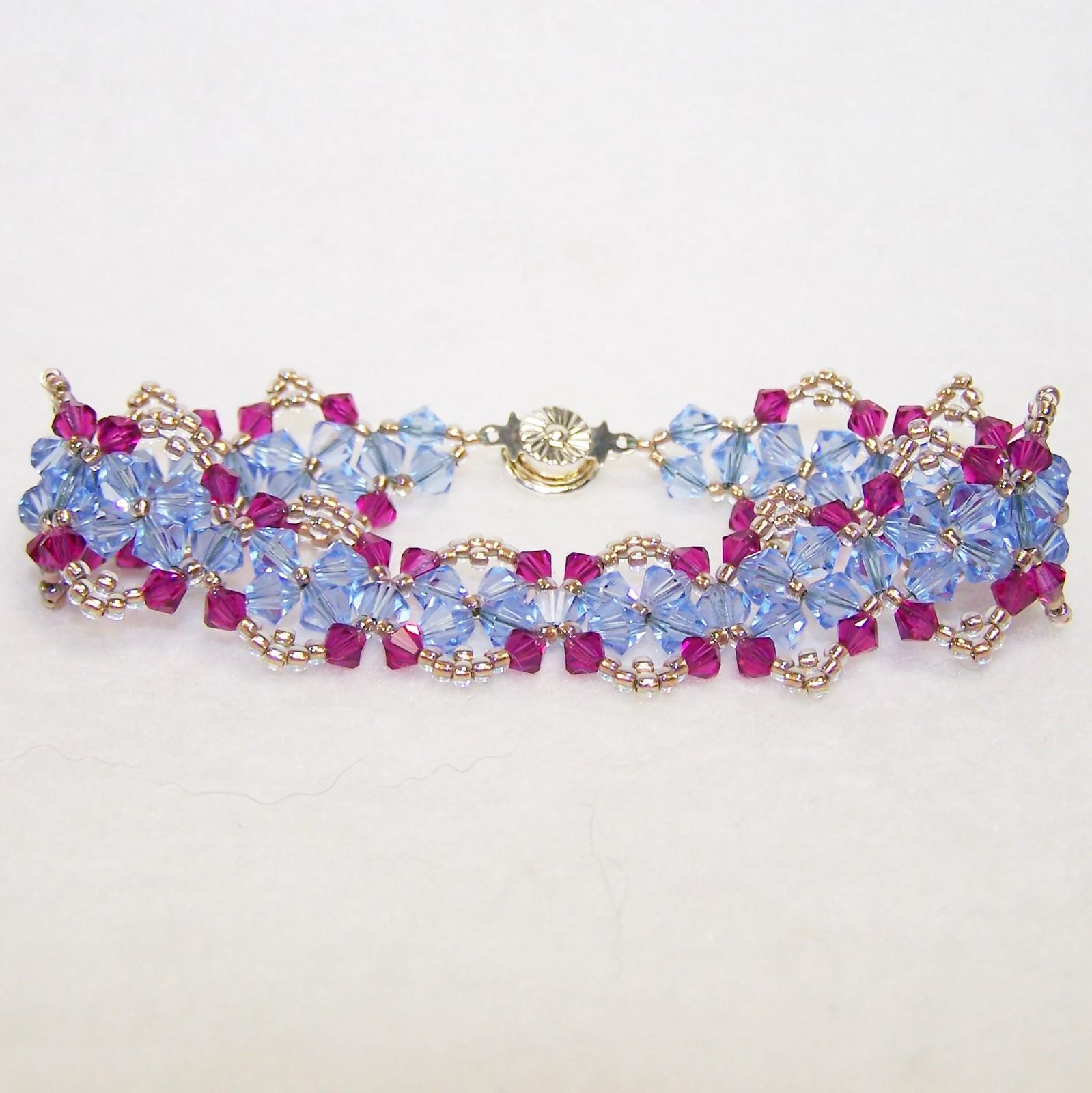 Pink and Blue Crystal Bracelet