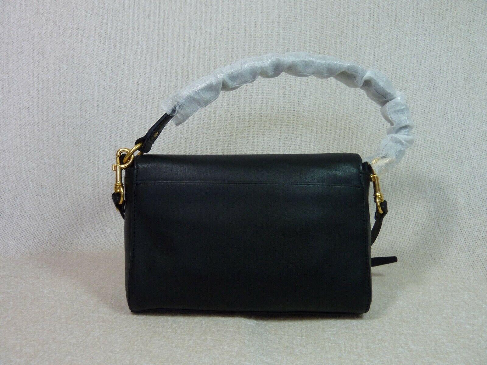 NWT Tory Burch Black Leather Miller Metal Cross-Body Bag/Mini Shoulder Bag $398 image 5