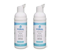 Coral Nano Silver Foam Toothpaste Bundle 2 Pack 50ml No Fluoride Sensitive Teeth - $18.95