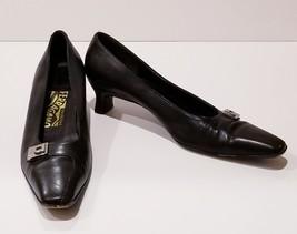 Salvatore Ferragamo Women's Black Pumps Gancini Logo Size A40 8 3A Shoes... - $67.86