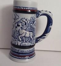Avon 1983 Golden Eagle, Sheep, Moose Miniature Beer Stein Ceramarte Braz... - $8.60
