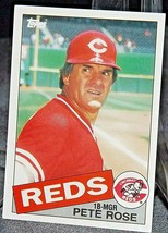 1985 Topps Pete Rose #18-MGR Reds  AA20-BTC3032 Baseball Trading Cards # 600