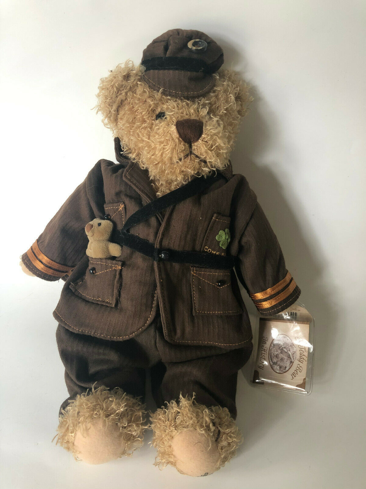 Primary image for Rare Ganz Good Luck  Brown Bear Military Deployment Toy Irish Shamrock 14""