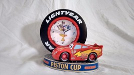 Disney Pixar Cars McQueen Piston Cup Alarm Clock Lights & Reving Sound - $6.92