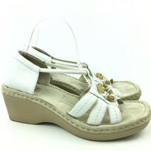 Earth Spirit Womans Sandals Size 8 40 Liberty White Leather Gelron 2000 ... - $35.99