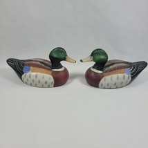 "Vintage Hand Painted Ceramic Mallard Duck 9"" Nice Colors Excellent Condi... - $21.99"