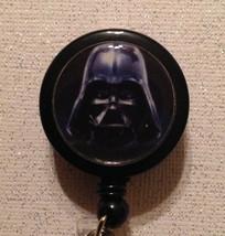 Star Wars Darth Vader Badge Reel Id Holder Alligator Clip Black Handmade... - $8.99