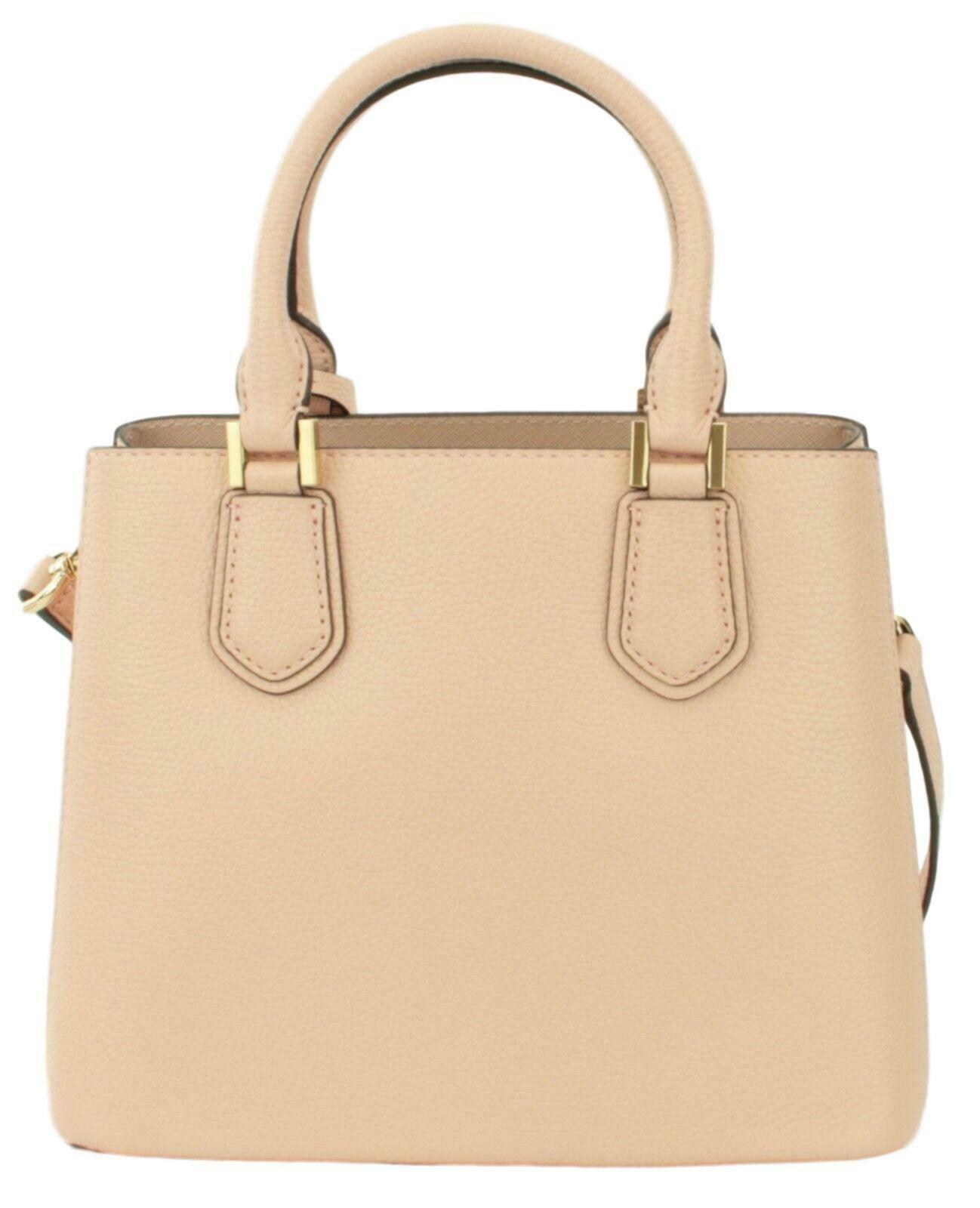 Michael Kors Adele Pastel Pink Leather Shoulder Messenger Bag Handbag image 4