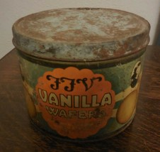Vintage Tin from Southern Biscuit Company Original Paint FFV Vanilla Wafers - $15.45