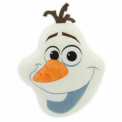 Disney FROZEN OLAF PLUSH PILLOW Embroidered Head Cushion Bedding NEW!