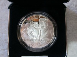 2007 Jamestown 400 Anniversary Comm PROOF Silver $1 Dollar US Mint Origi... - $45.99