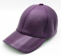 Purple Genuine Leather Adjustable Baseball Cap  - €22,77 EUR
