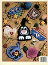 Hang It Up in Plastic Canvas Leaflet 1802 Cherry Pie Apple Cat Rose Star... - $7.50