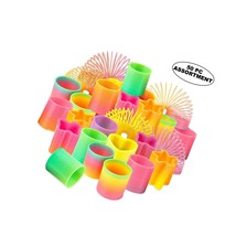 Rainbow Sp Toy Assortment - Pack Of 50 Mini Coil Sp Toy | Bright Colors ... - $30.99