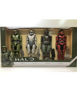 "Halo UNSC 12"" Action Figures 4 Pack Master Chief Spartan Tanaka Marine S... - $34.64"