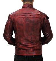 Peter Quill Guardians Of Galaxy 2 Chris Pratt Star Lord Costume Leather Jacket image 2