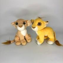 Disney Lion King Simba and Nala Kissing Cubs Magnetic Plush Vintage Matt... - $27.76