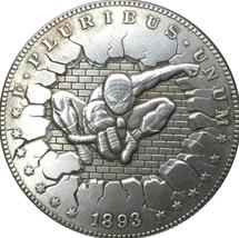 New Hobo Nickel 1893 USA Morgan Dollar Spiderman Marvel Superhero Casted... - $11.99