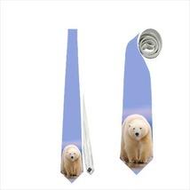 necktie white polar bear tie - $22.00