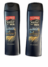 2 Suave MEN 2 in 1 HAIR & BODY WASH 15oz Free Shipping - $14.73