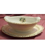 Noritake MYSTERY #14 Pattern White Rose Leafy Band GRAVY Sauce Boat With... - $9.99