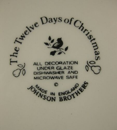 Eleven Pipers Piping Salad Plate Johnson Brothers Twelve Days of Christmas  image 3