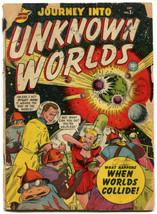 Journey Into Unknown Worlds 37 (#2) Fair 1.0 Marvel 1950 Bill Everett Ge... - $59.40