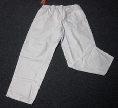 White Scrub Pants 4XL Spectrum Classic Elastic Waist Unisex Uniform 300C New - $19.37