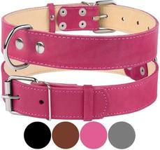 Genuine Leather Dog Collar, Handmade Collar for Dog, Soft Puppy Col - $24.54