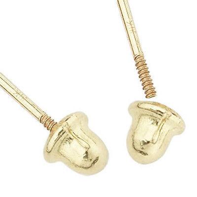 Unique 14K Gold Round Orange Color Fiery Opal Ball Screw Back Stud Earrings