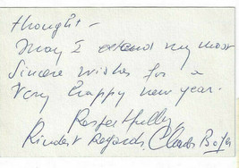 Charles Boyer Signed Note 1958 / Autographed Actor - $33.94